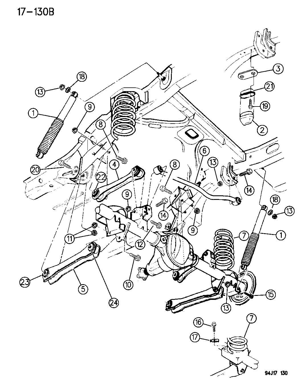 Dodge Dakota Isolator Left Spring Rear Sdu Pkg