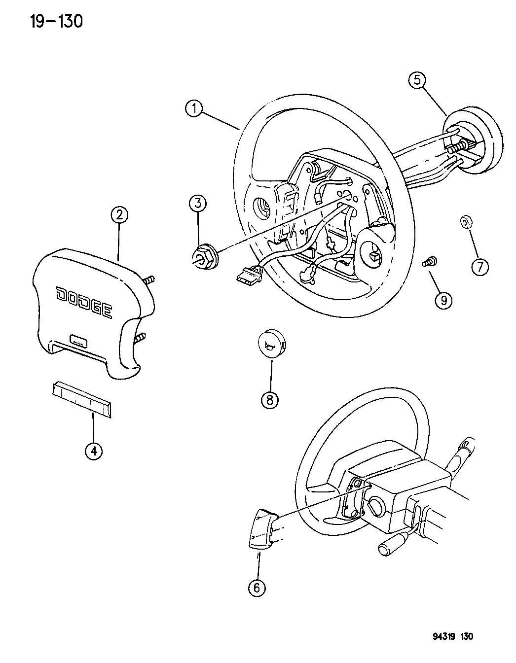 Dodge Dakota Clockspring Control Speed Steering