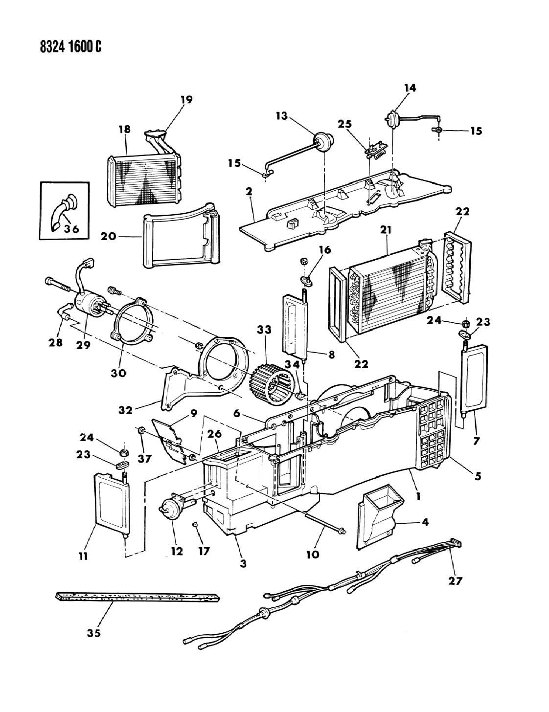 1987 Dodge Ram 150/250/350 Resistor, heater. Air
