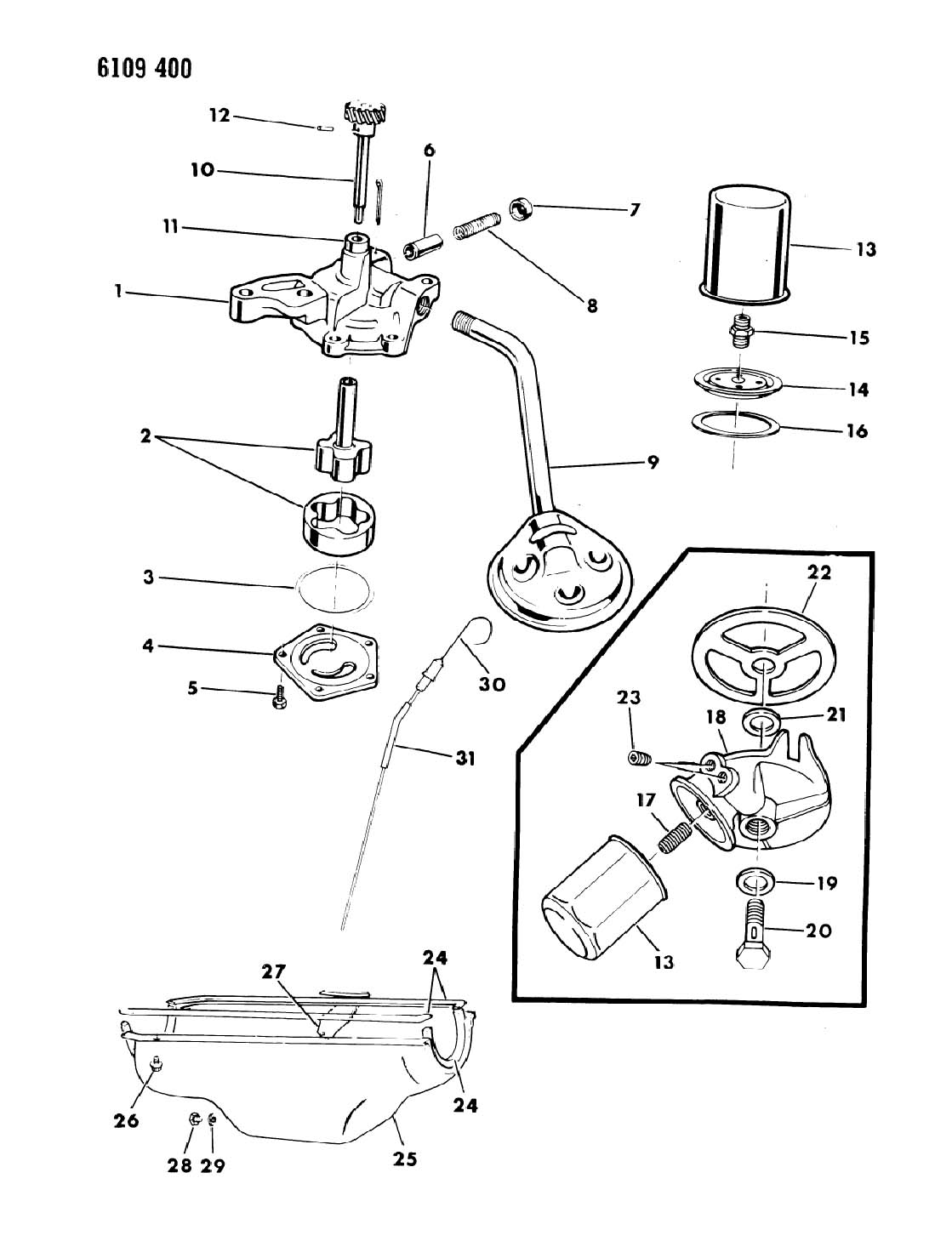 1988 Dodge Ram Van,Ram Wagon Gasket, oil filter adapter