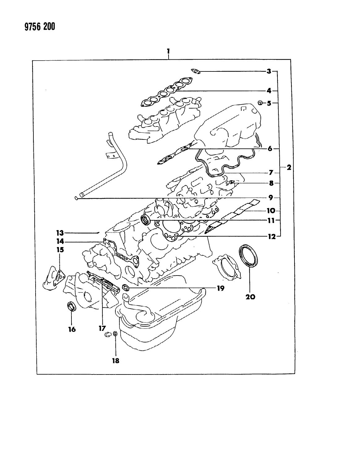 2000 Chrysler Grand Voyager Seal. Crankshaft oil. Front