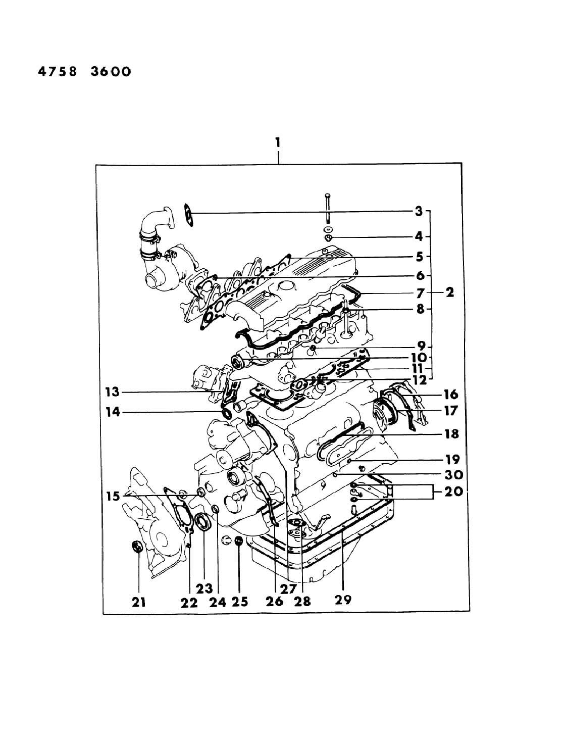 1998 Chrysler Sebring Oil seal. Crankshaft. Engine, filter