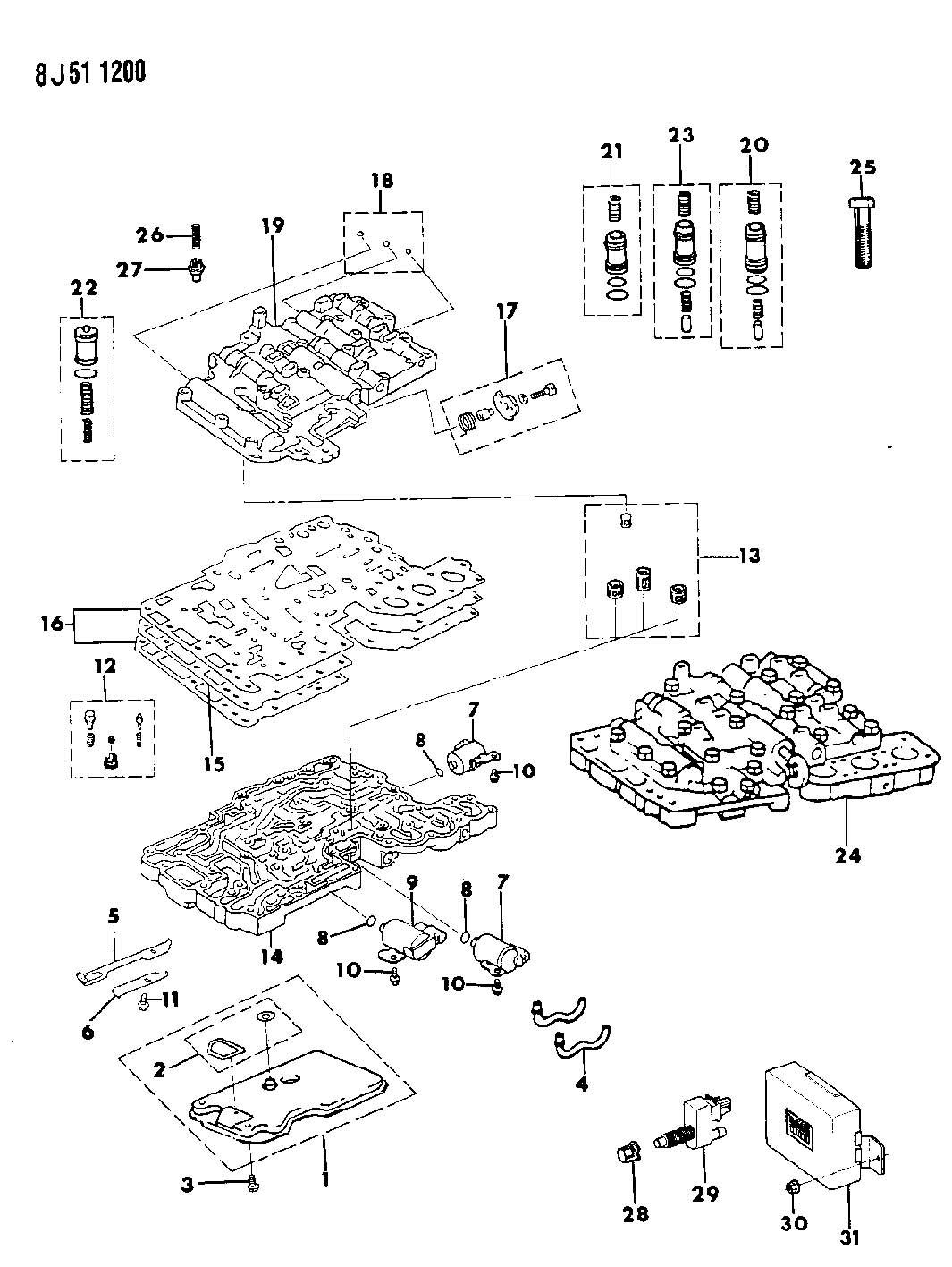 Chrysler Lhs Filter Valve Body Filter Assembly