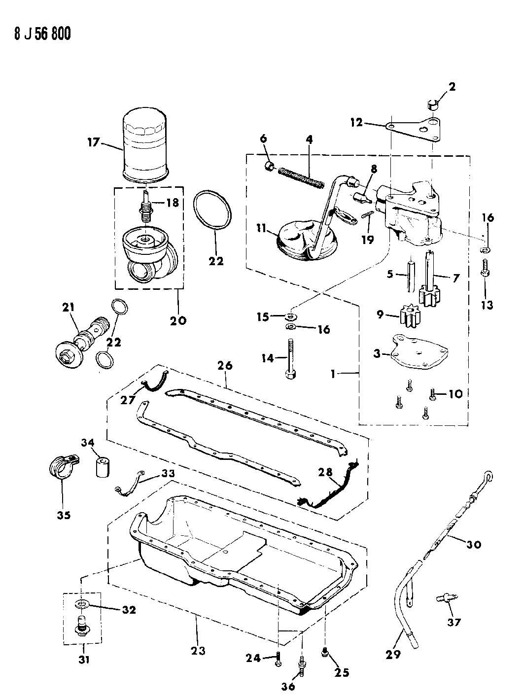 1987 Jeep Comanche Pan. Engine oil. Pan, engine oil. 1990