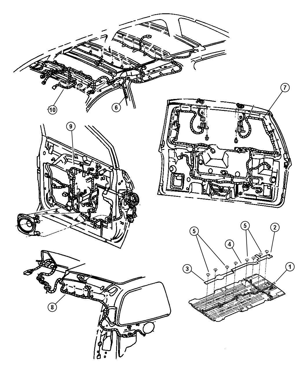 Chrysler Voyager Wiring. Radiator fan. Acid