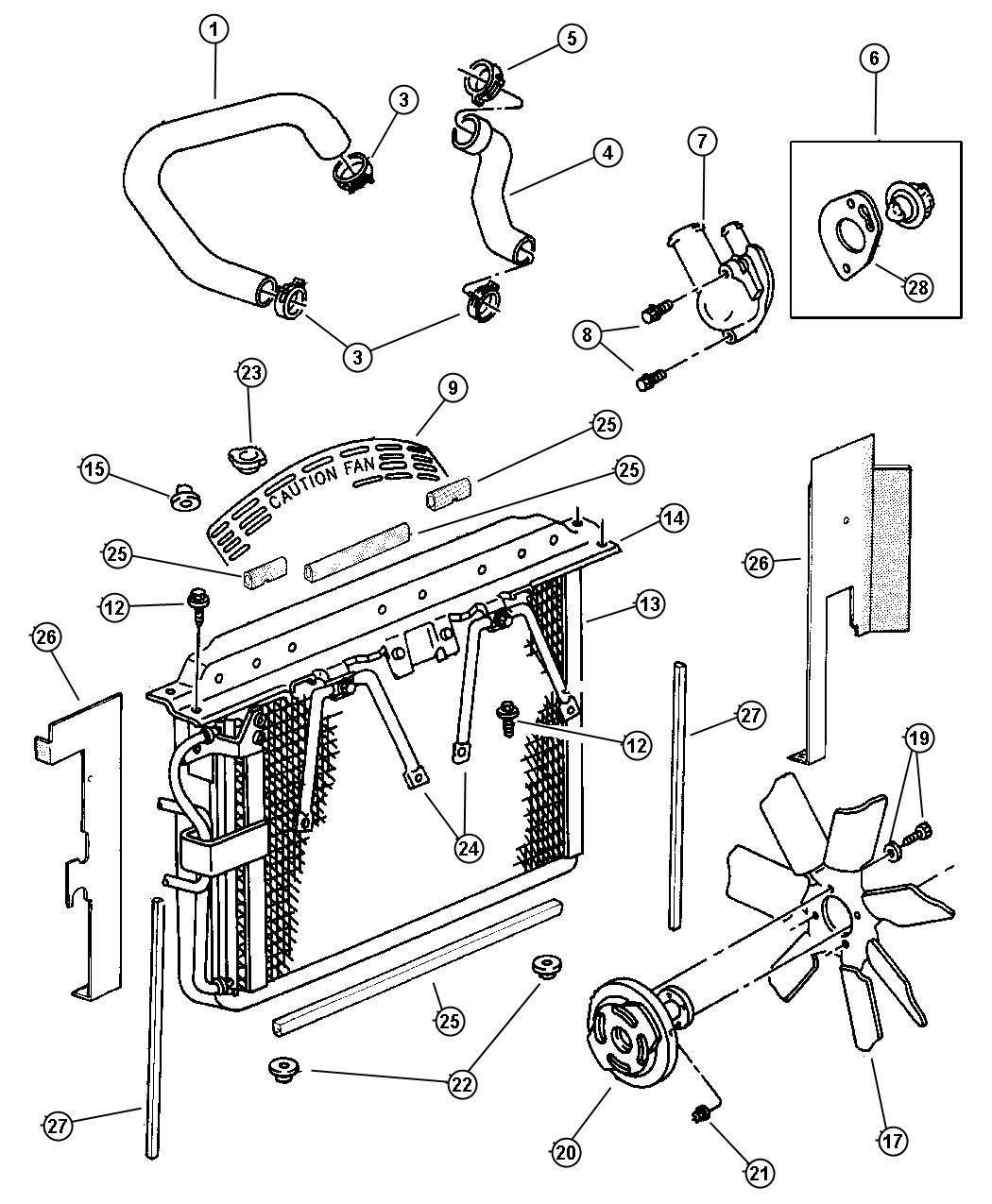 Dodge Ram 3500 Shroud. Fan. Engine, related, radiator