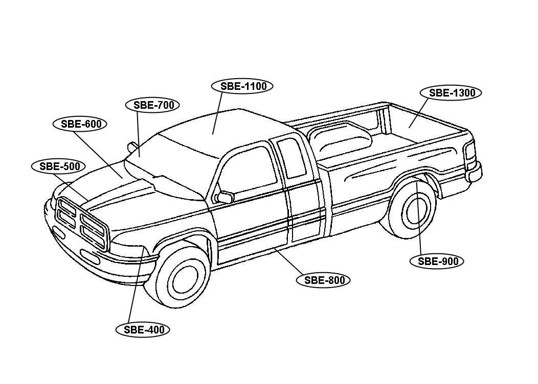 1999 Dodge Ram 3500 Sensor, sensor package. Standard