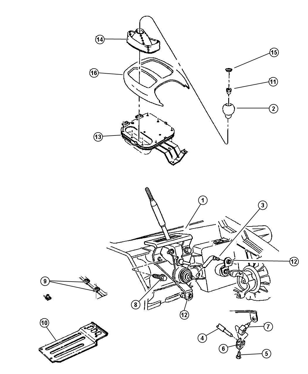 Dodge Dakota Rod Gear Shift Control Transfer Case