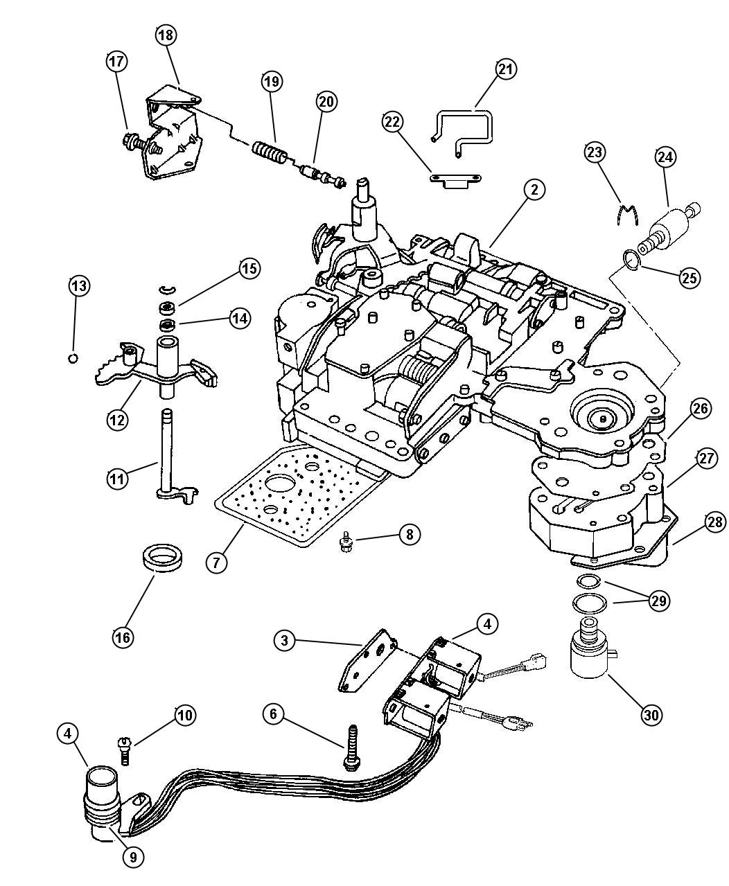 Dodge Body Valve Automatic Transmission