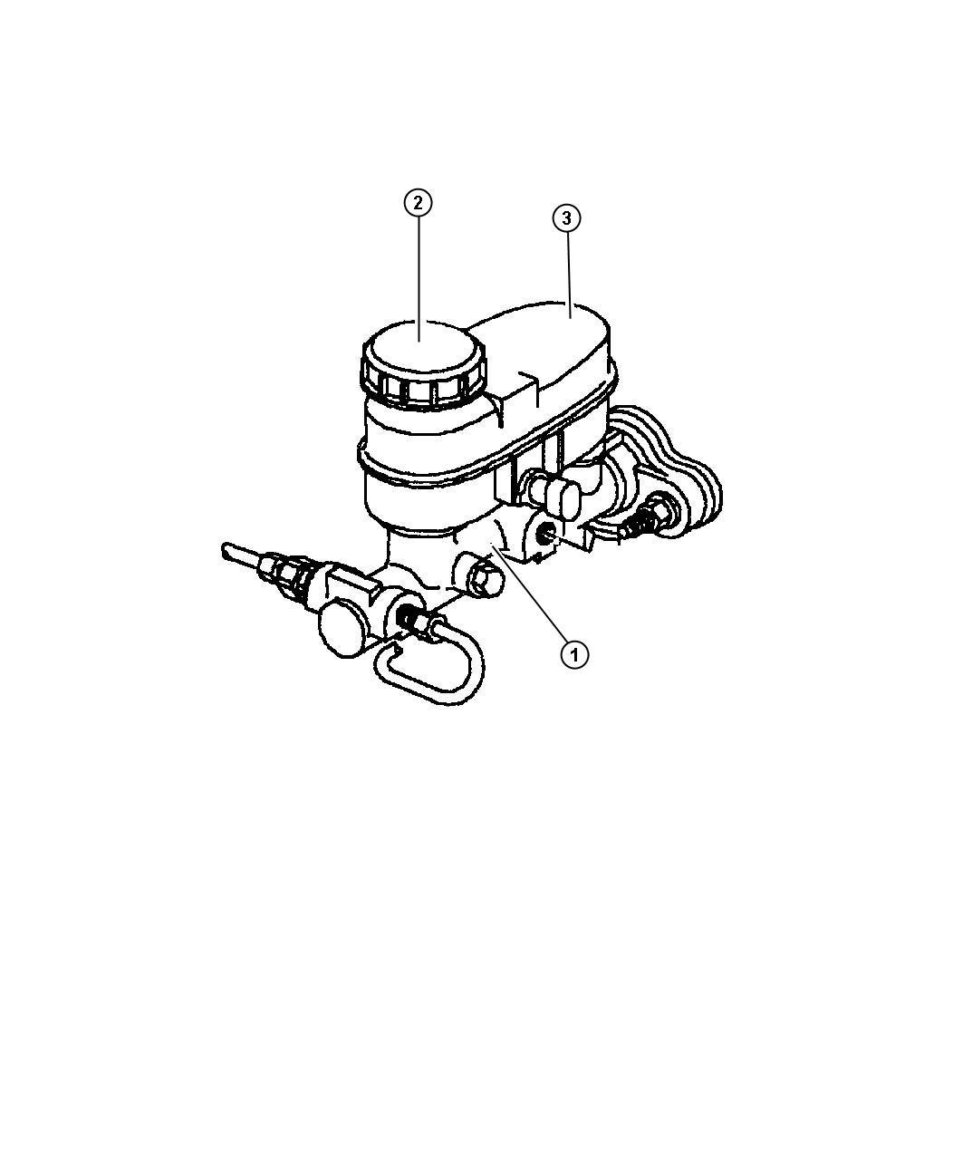 1997 Chrysler Cirrus Master cylinder. Brake. W/abs. Disc
