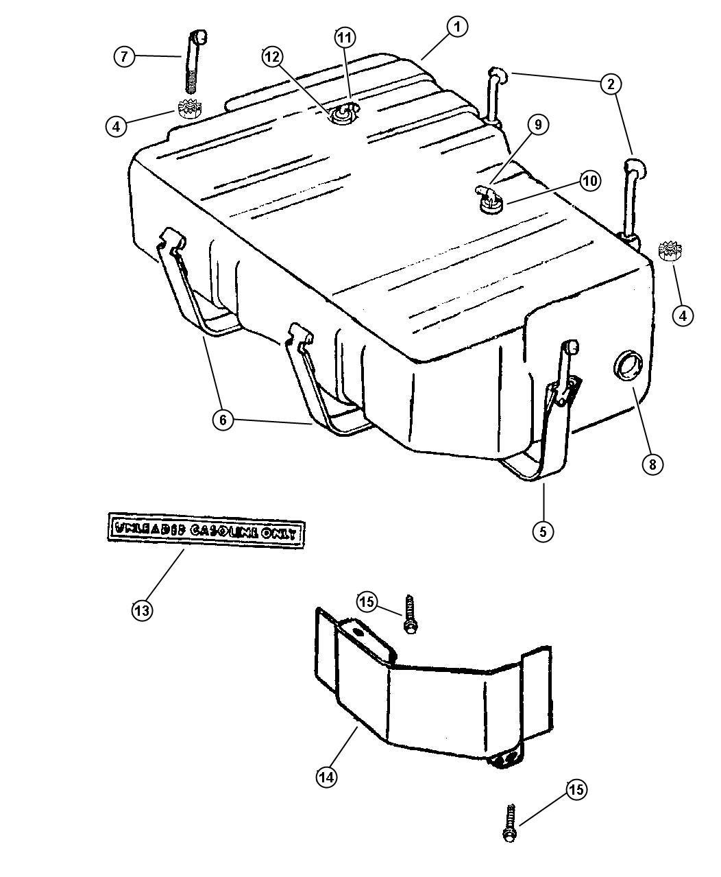 Dodge Dakota Grommet Fuel Tank Filler Tube Body