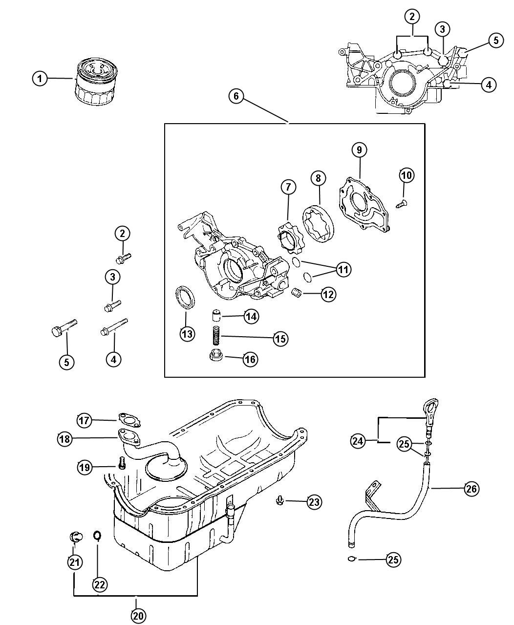 Chrysler Cirrus Plug Cylinder Block Oil Hole Engine Oil