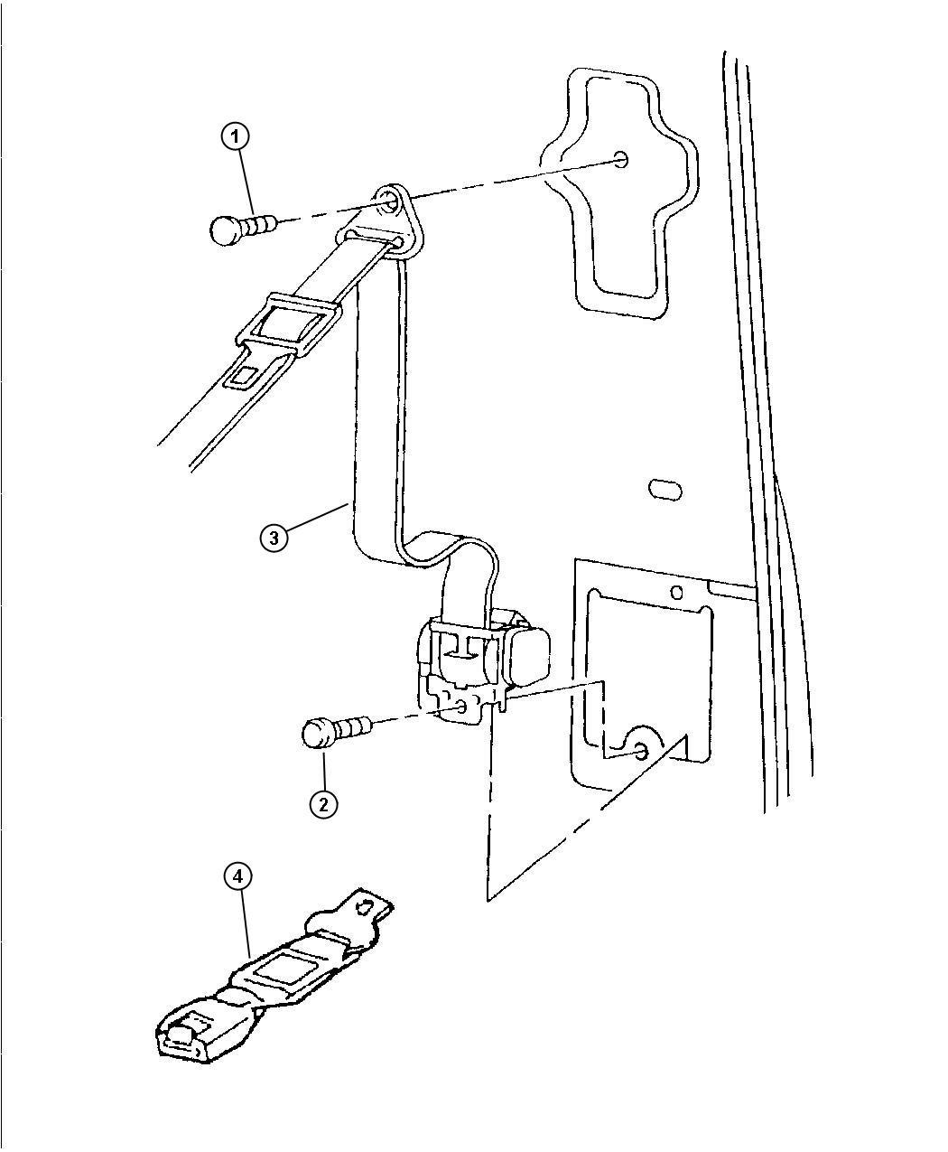 Dodge Dakota Seat belt. Front outer. Left. Agate, c3. Trim