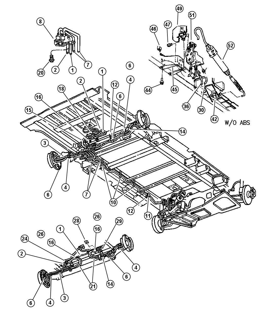 2003 Chrysler Voyager Valve. Proportioning. Valve assembly