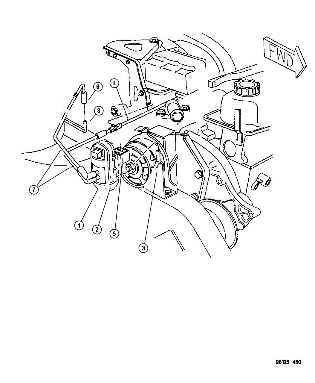 1997 Dodge Caravan Harness. Duty cycle purge solenoid