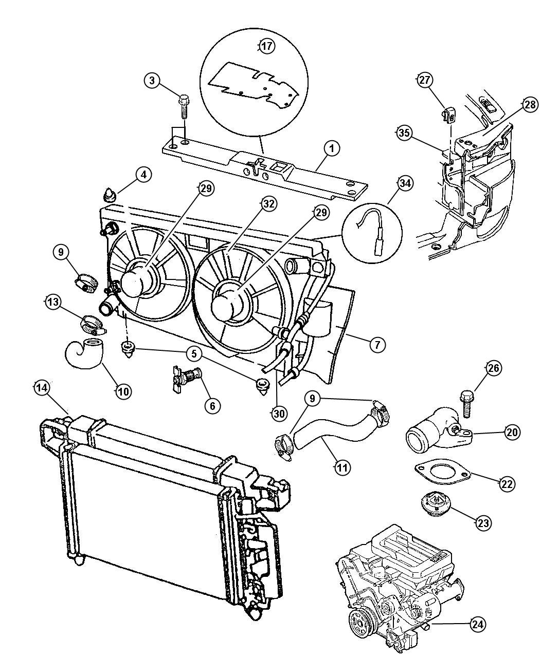 1997 dodge intrepid engine diagram 2002 ford escape stereo wiring housing water inlet connector