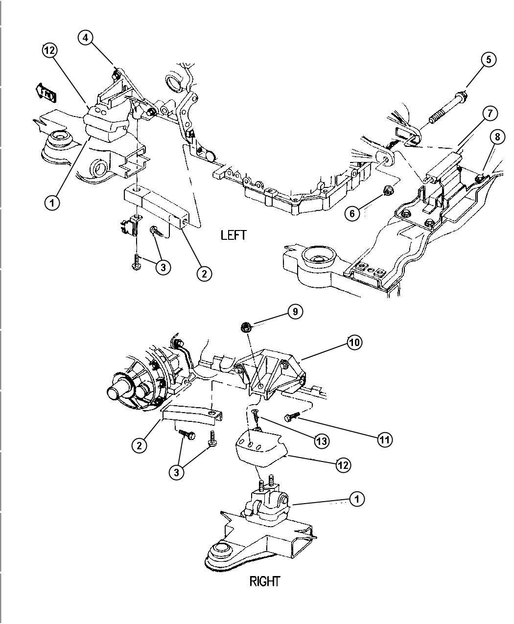Chrysler Lhs Support Transmission Mount Engine Mounts