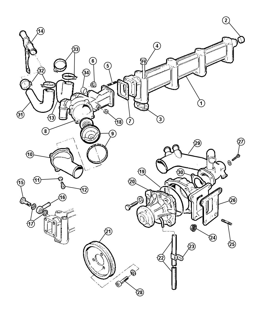 Chrysler 300 Pulley Water Pump Enginesel