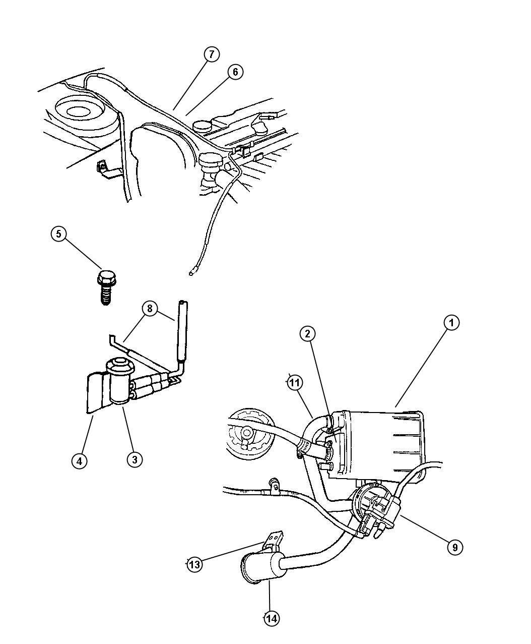 Dodge Stratus Pump. Leak detection. Emissions, canister