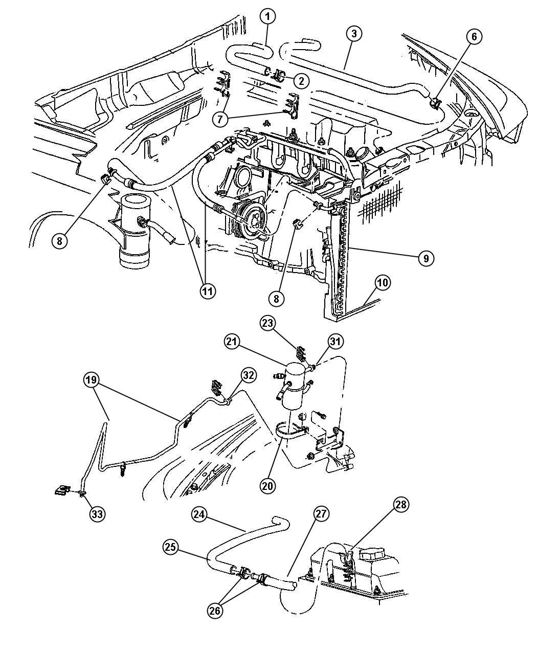 2000 Dodge Dakota Line. A/c liquid. Air, conditioning