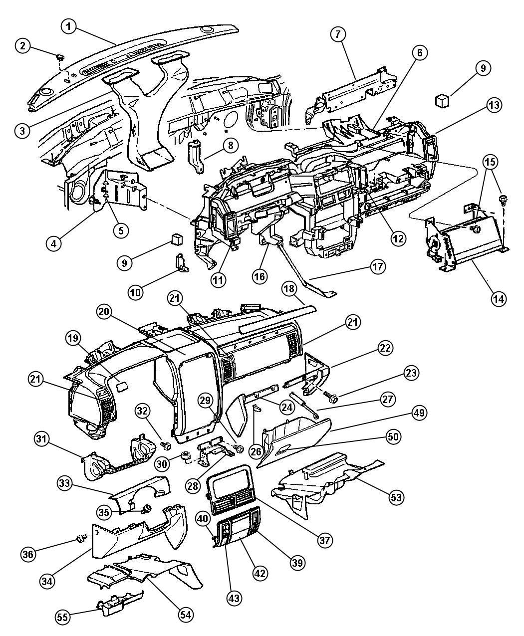 Dodge Durango Duct Instrument Panel Extension Left