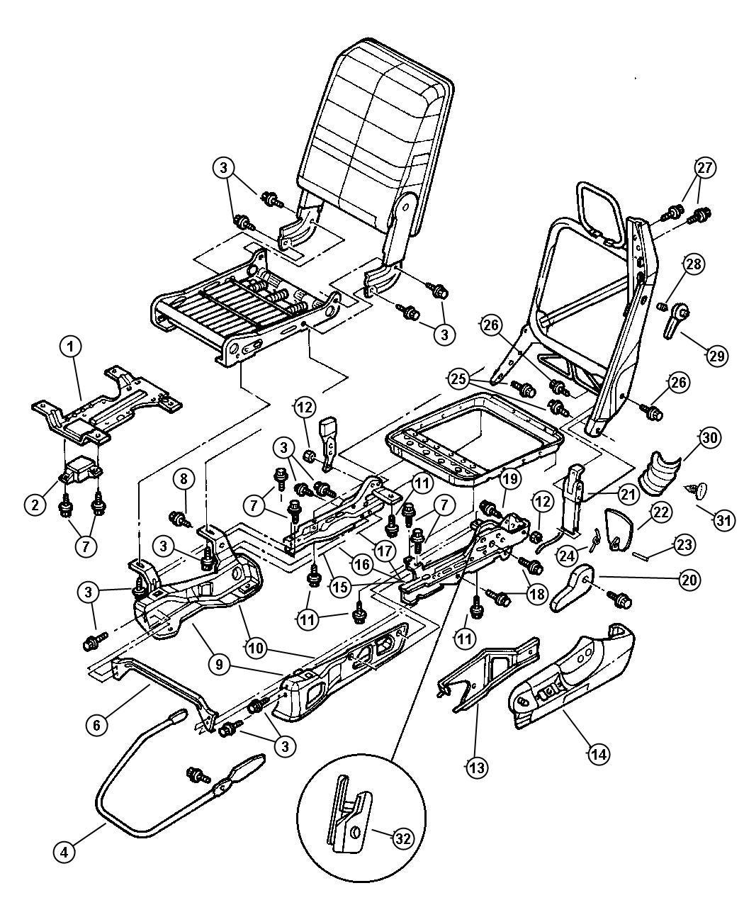 1998 Dodge Ram 1500 Module. Seat belt timer. 40/20/40