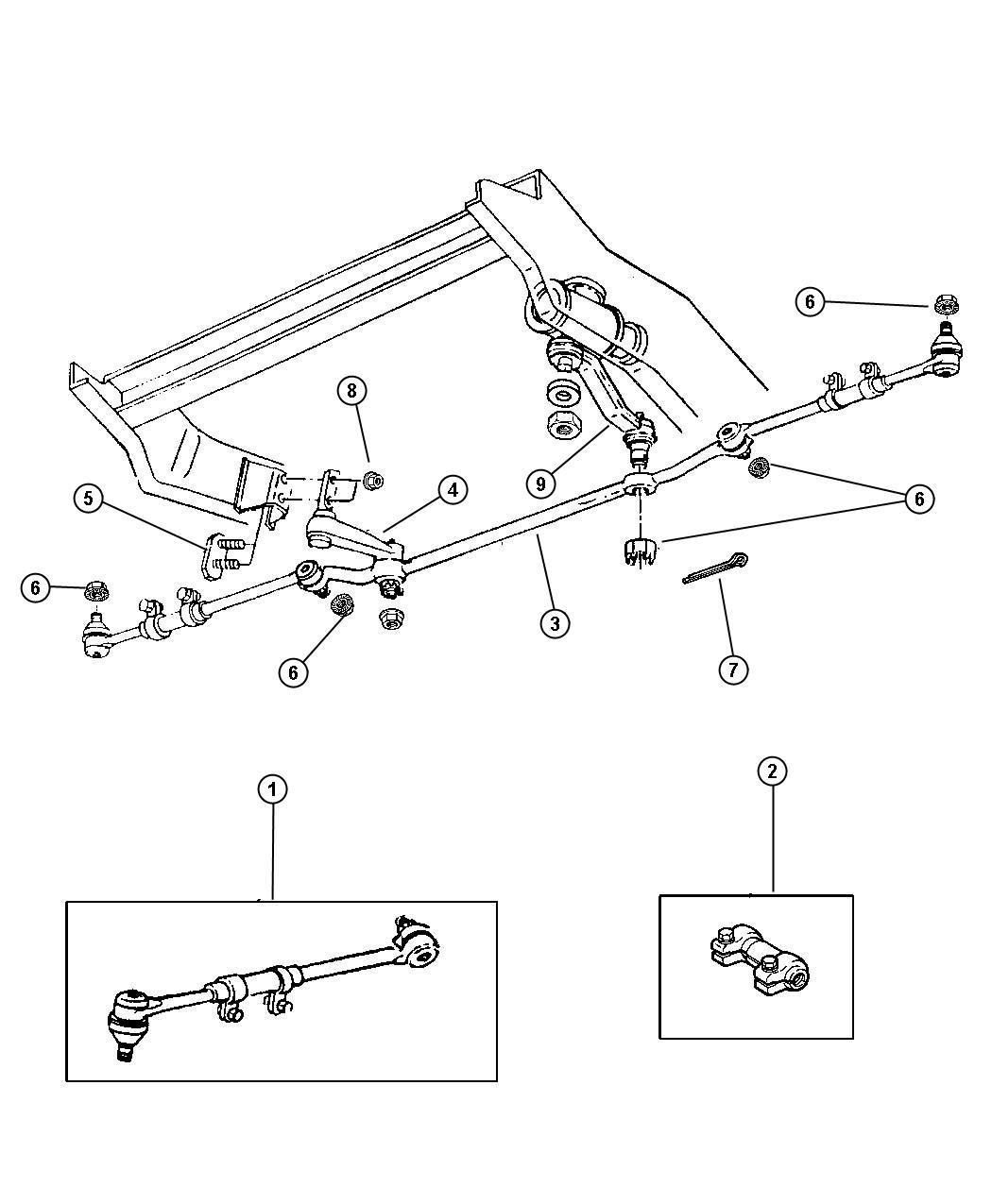 Chrysler Sebring Stud Plate Idler Arm Rating Gvw