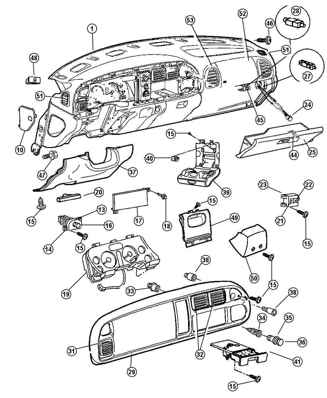 1998 Dodge Ram 3500 Switch. Headlamp. Cargo, instrument