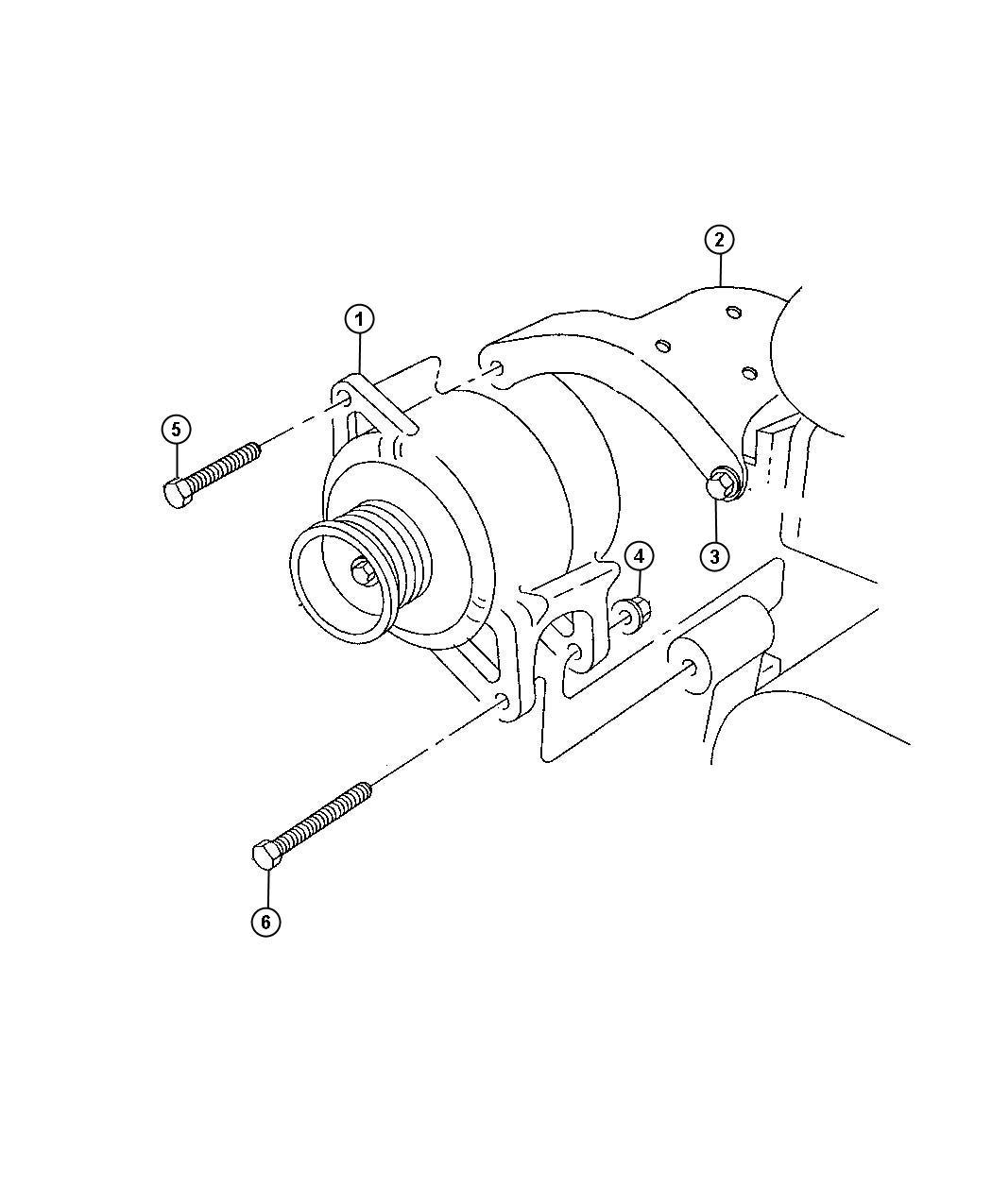 Dodge Ram 3500 Generator. Engine. [120 amp alternator