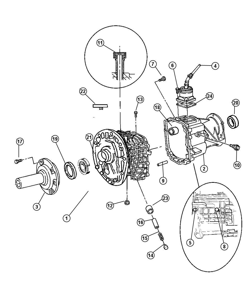 1998 Dodge Ram 1500 Seal. Output shaft. 52108101ab