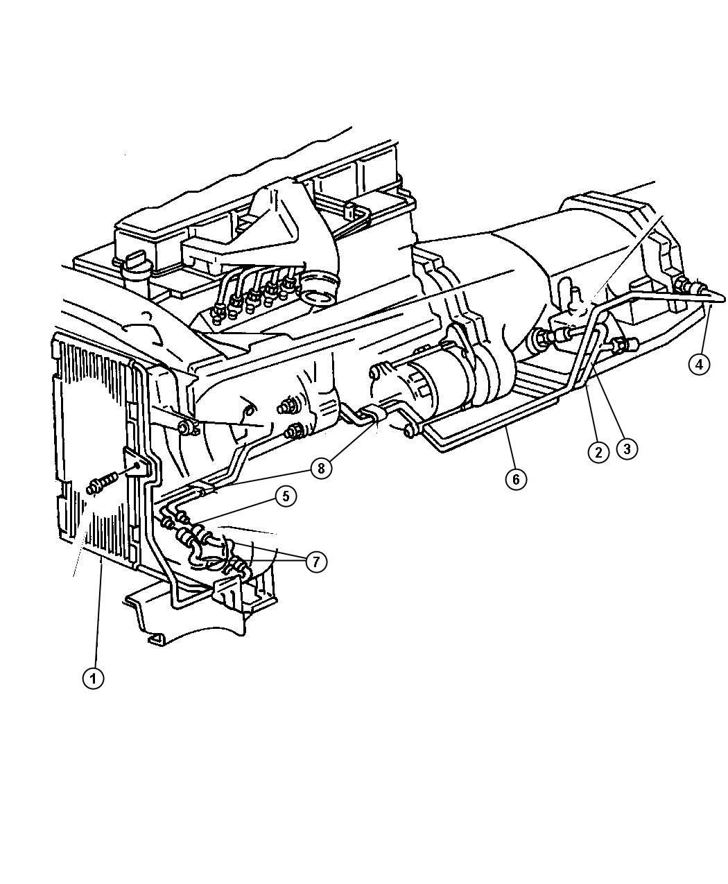 Dodge Ram Used For Tube And Hose Oil Cooler Return