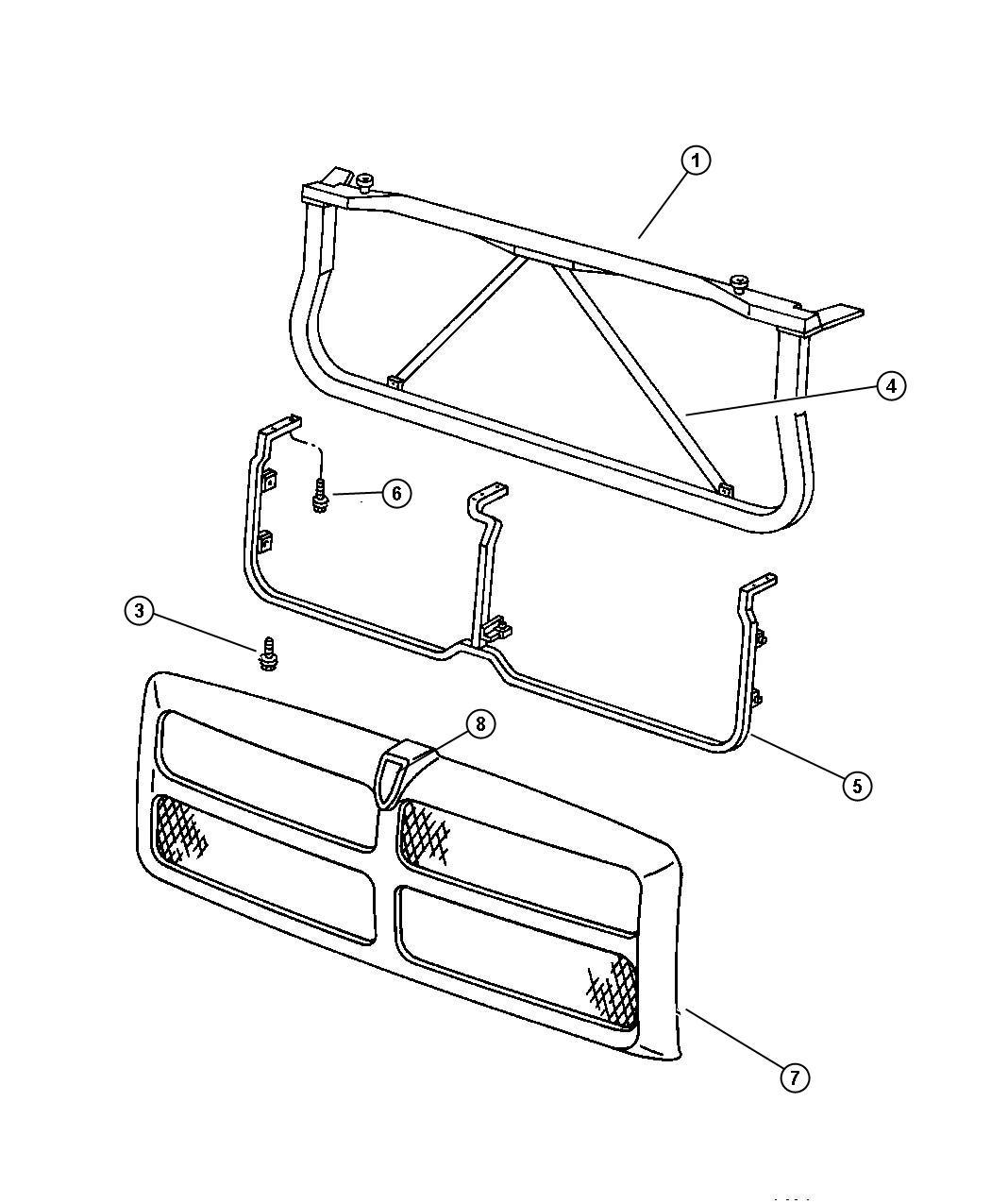 Dodge Ram Closure Panel Radiator Radiator