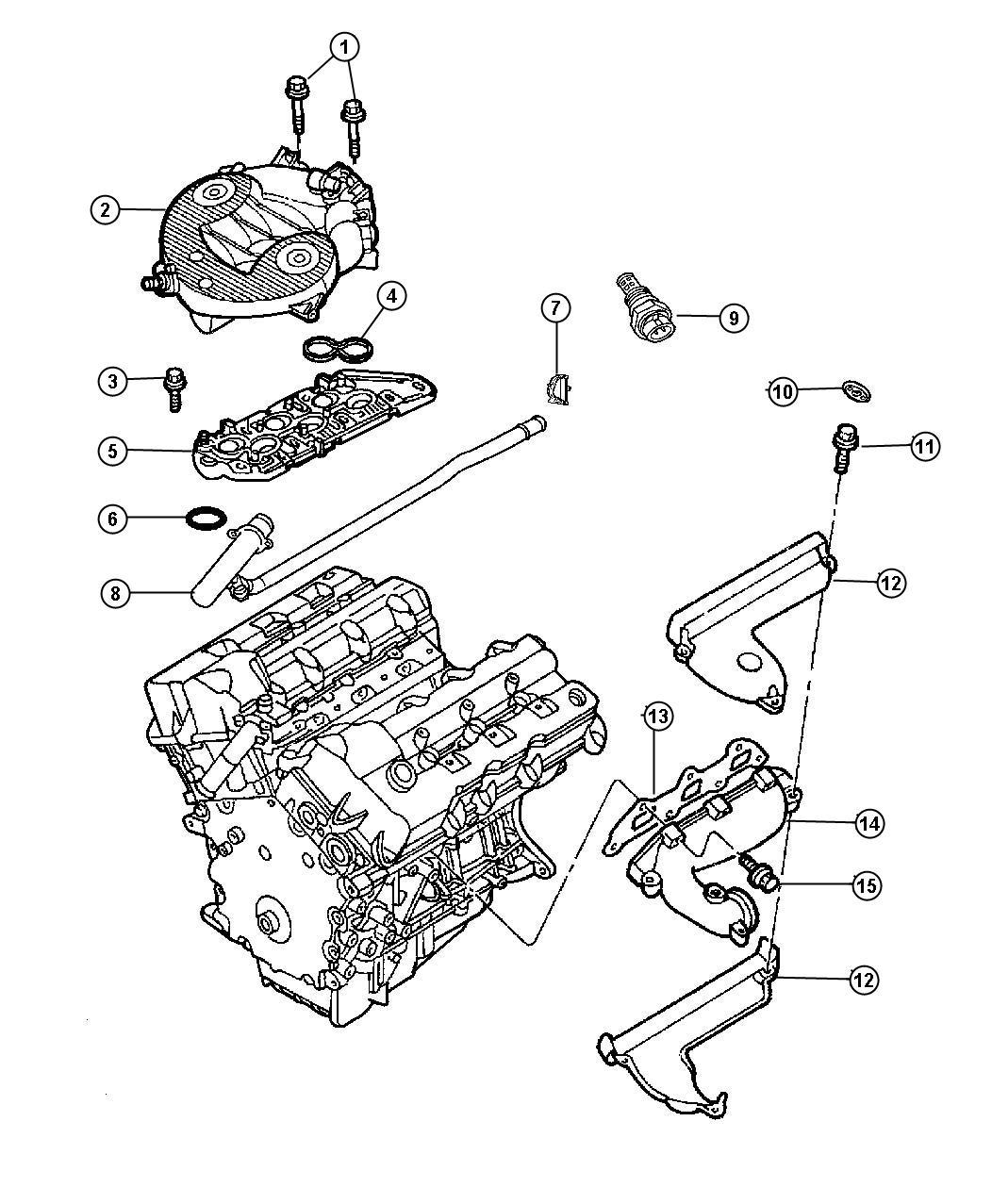 2000 Chrysler Concorde Gasket. Intake plenum. Mounting