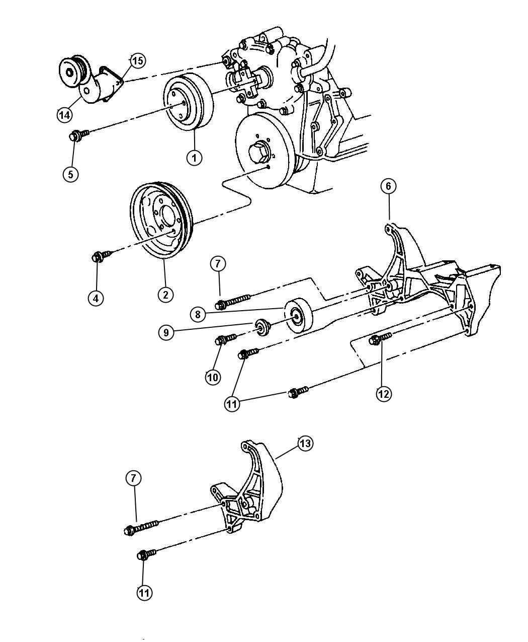 Dodge Ram Pulley Idler Conditioners
