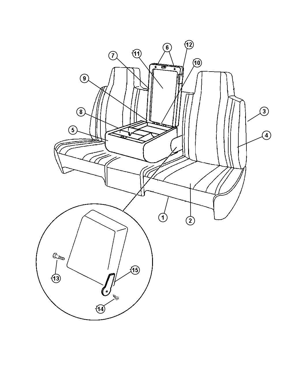 Dodge Ram Base Armrest Az Az Up To 5 10 00 Agate Az Trim Seat