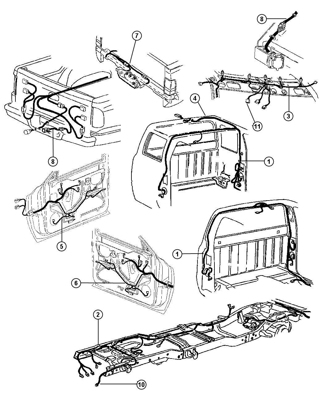 1999 Dodge Ram 3500 Wiring. Air intake heater. Wiring. Air