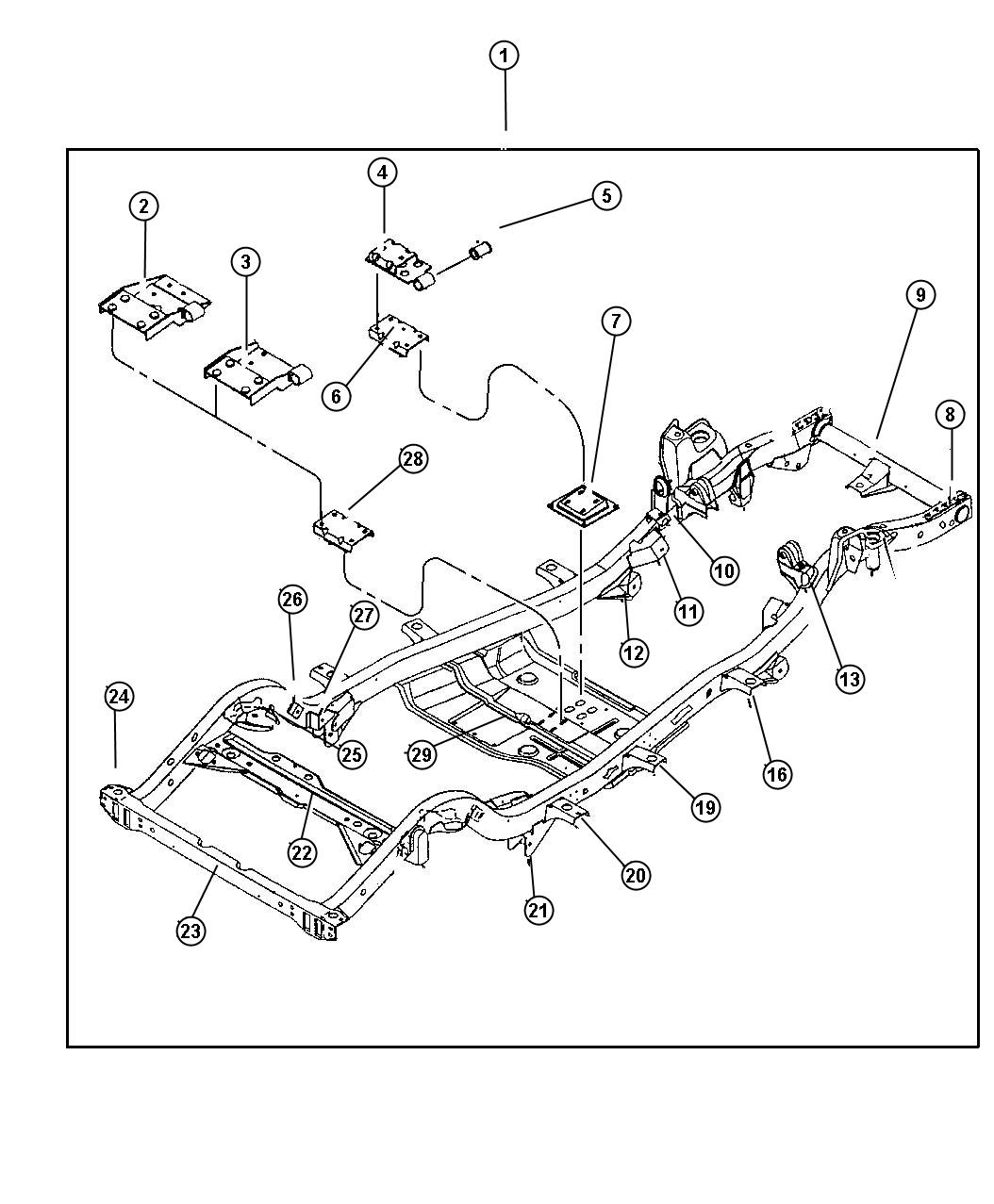 Jeep Wrangler Frame Chassis W 2 5l Eng