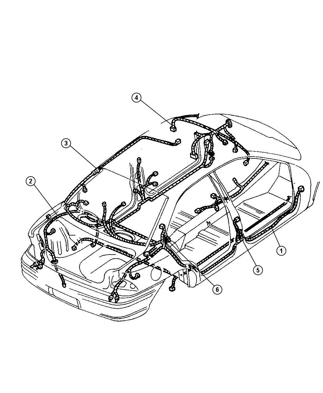 Dodge Neon Wiring. Illuminated visor. W/power sunroof
