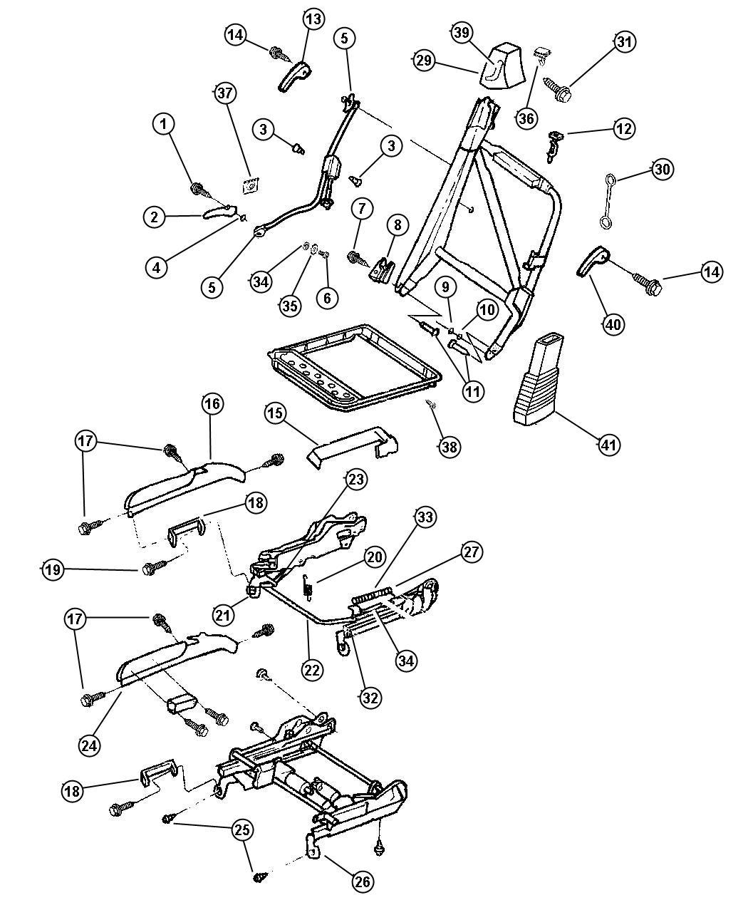 Chrysler Sebring Handle Lumbar Trim Seats