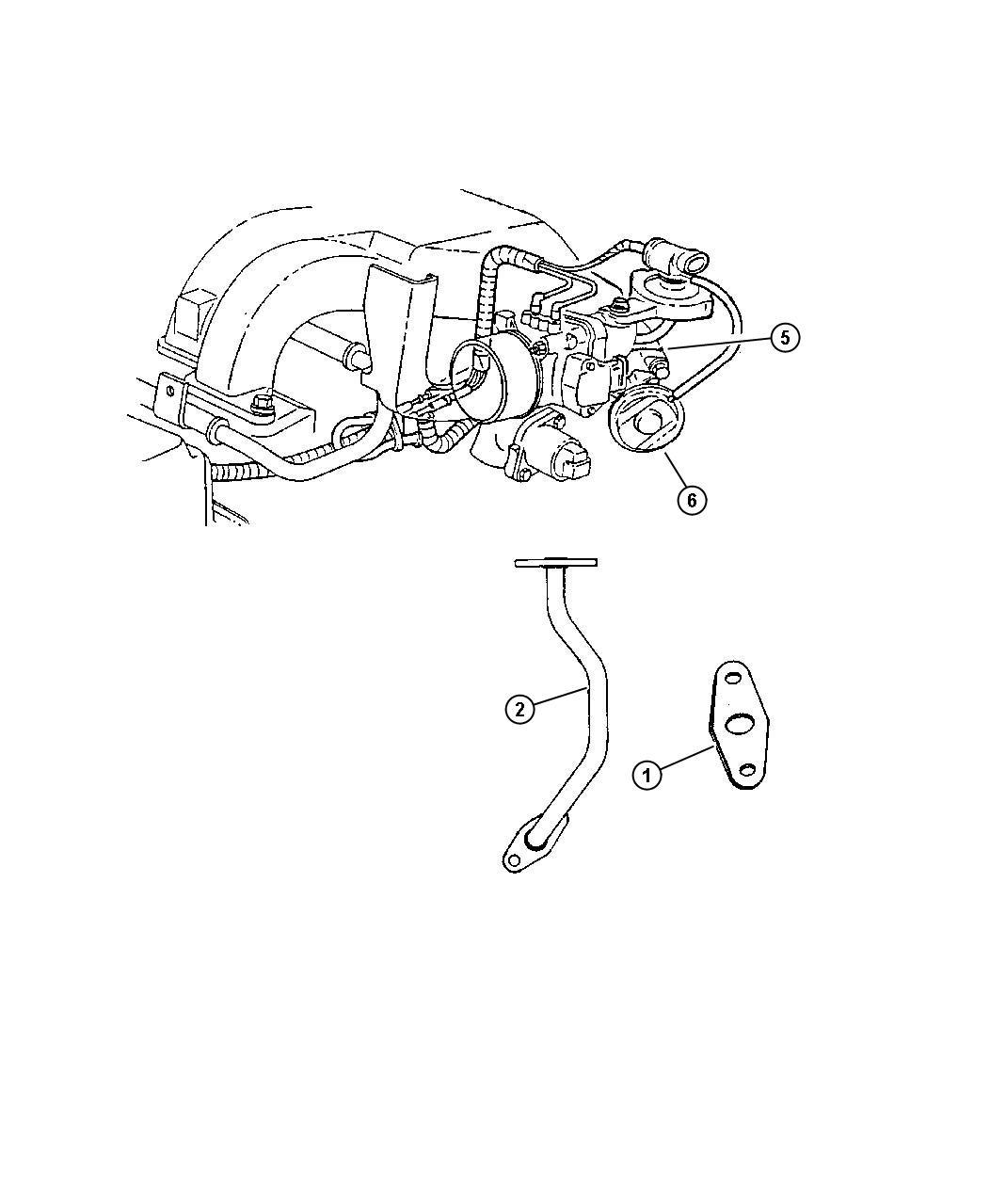 2000 Chrysler Grand Voyager Gasket. Egr tube flange. [2.7l