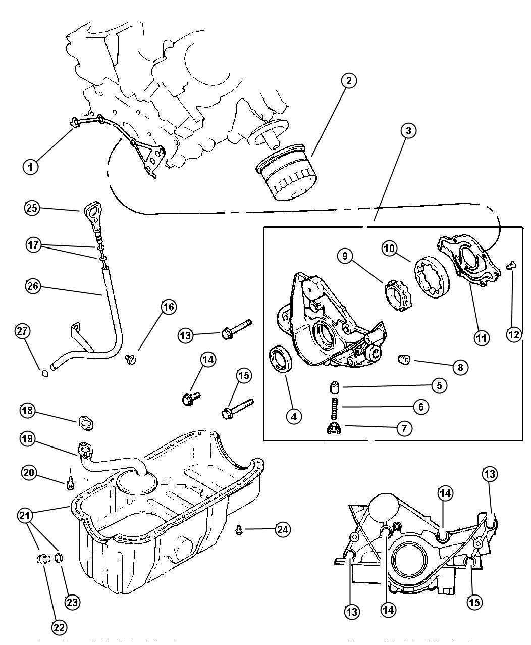 Dodge Caravan Rotor Oil Pump Outer Engine Oiling