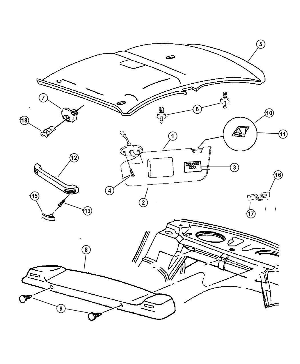 Chrysler Pacifica L Hybrid Screw Pan Head M6x1x20