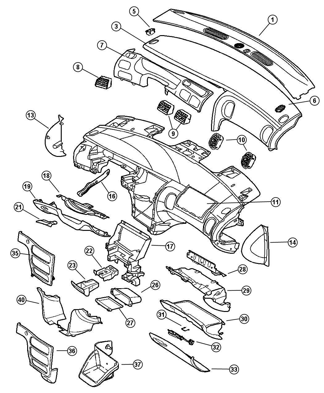Chrysler LHS Latch. Glovebox door. Med. Quartz, med