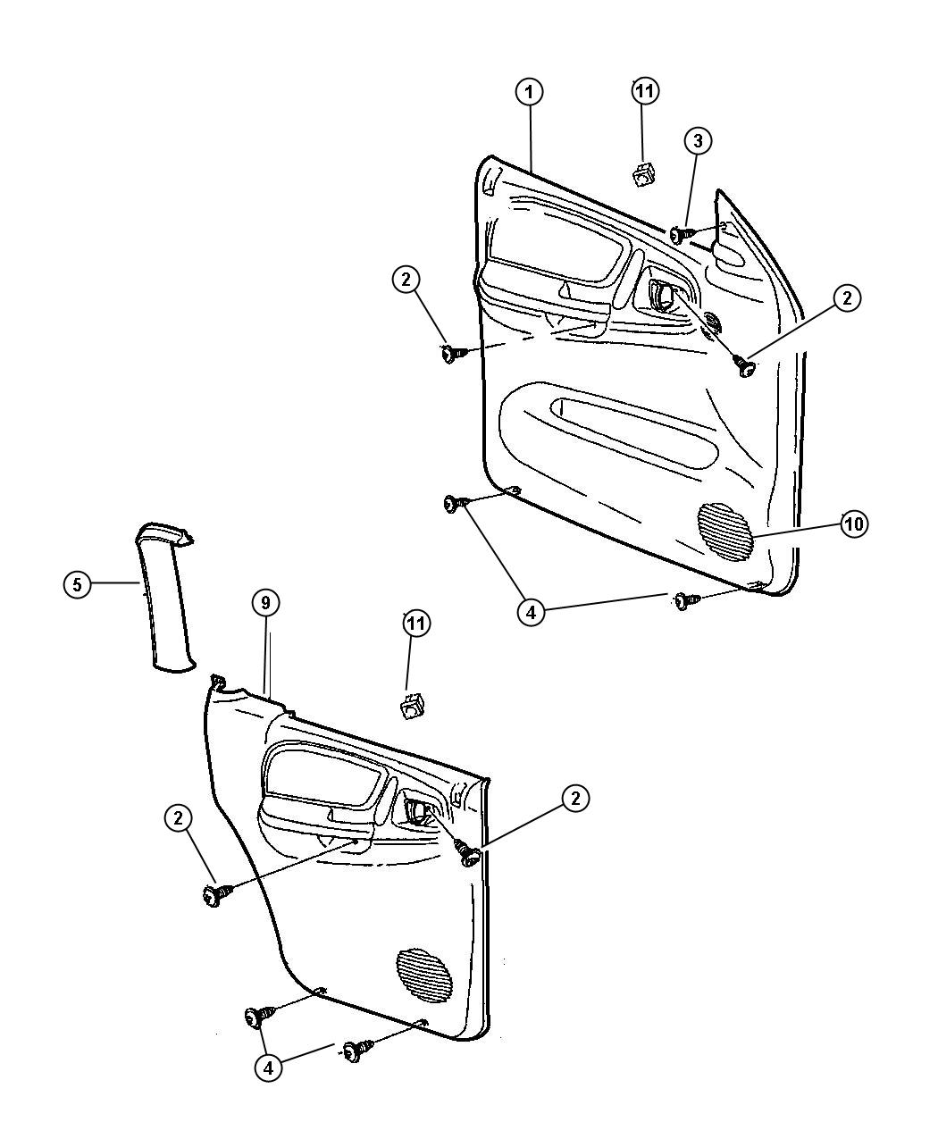 Chrysler Voyager Panel Rear Door Left Leather K9 Suede Bolster Trim Seats