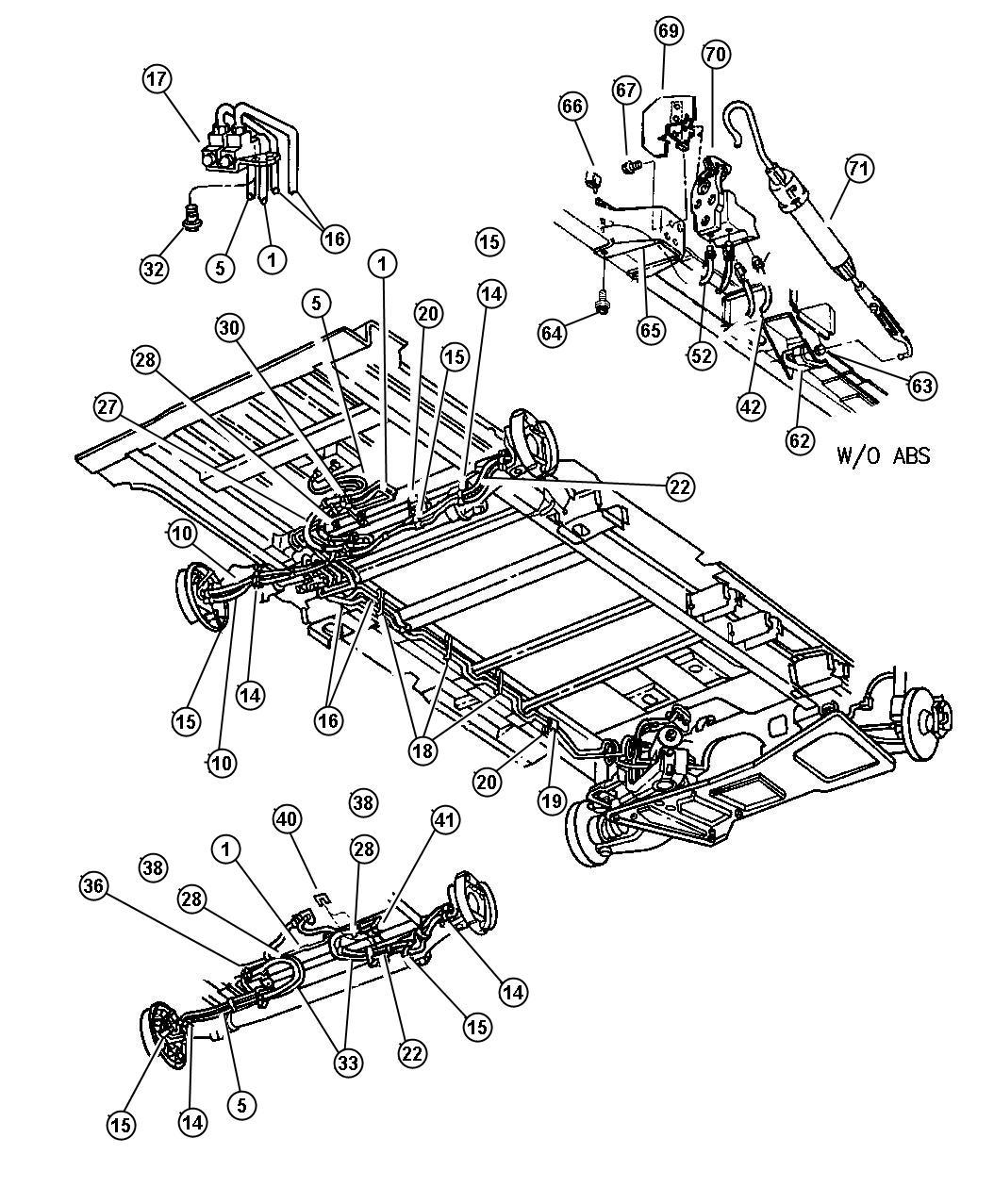 1999 Dodge Grand Caravan Valve. Proportioning. [bgf