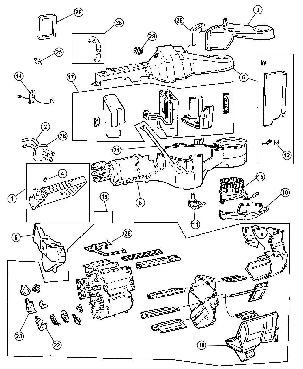 1998 Dodge Grand Caravan Resistor. Blower motor. Air