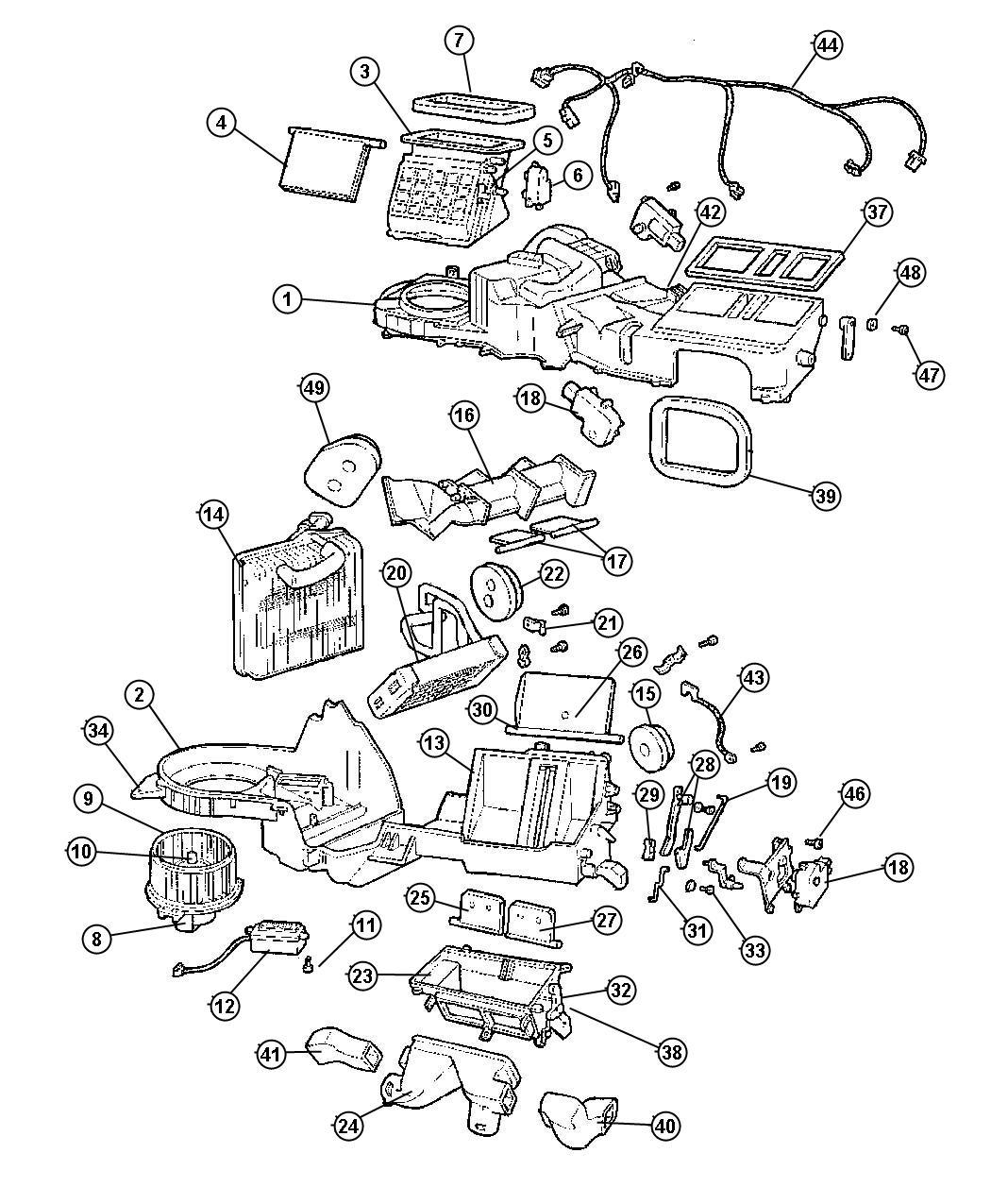 1994 Jeep Grand Cherokee Resistor. Blower motor. Blower