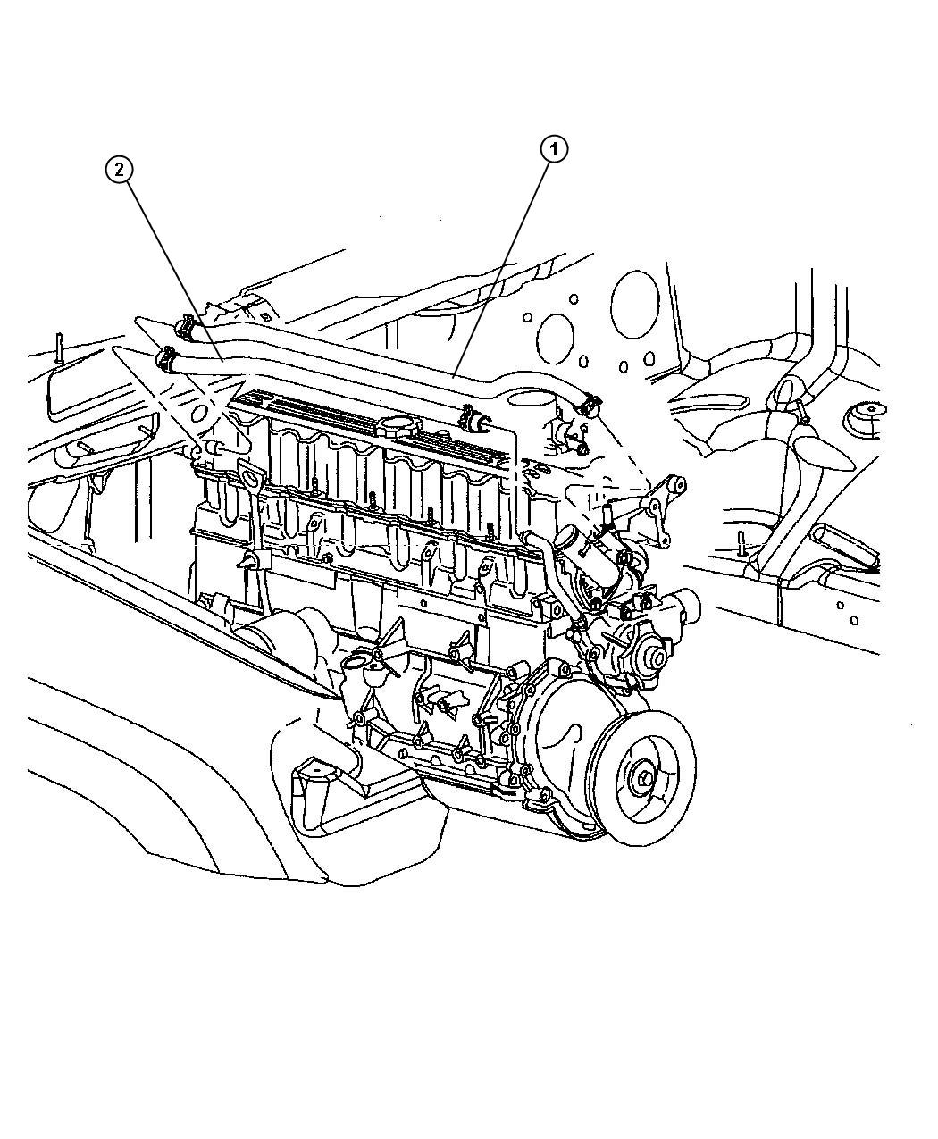 Dodge Sprinter Hose Heater Supply Air