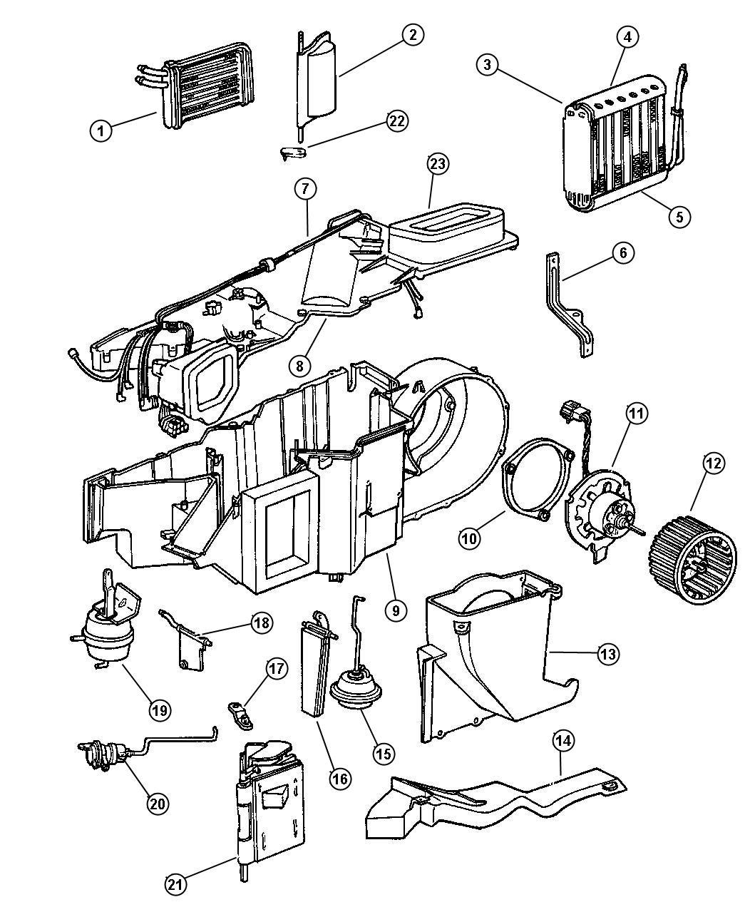 1997 Dodge Dakota Motor. Heater blower. Air, conditioning