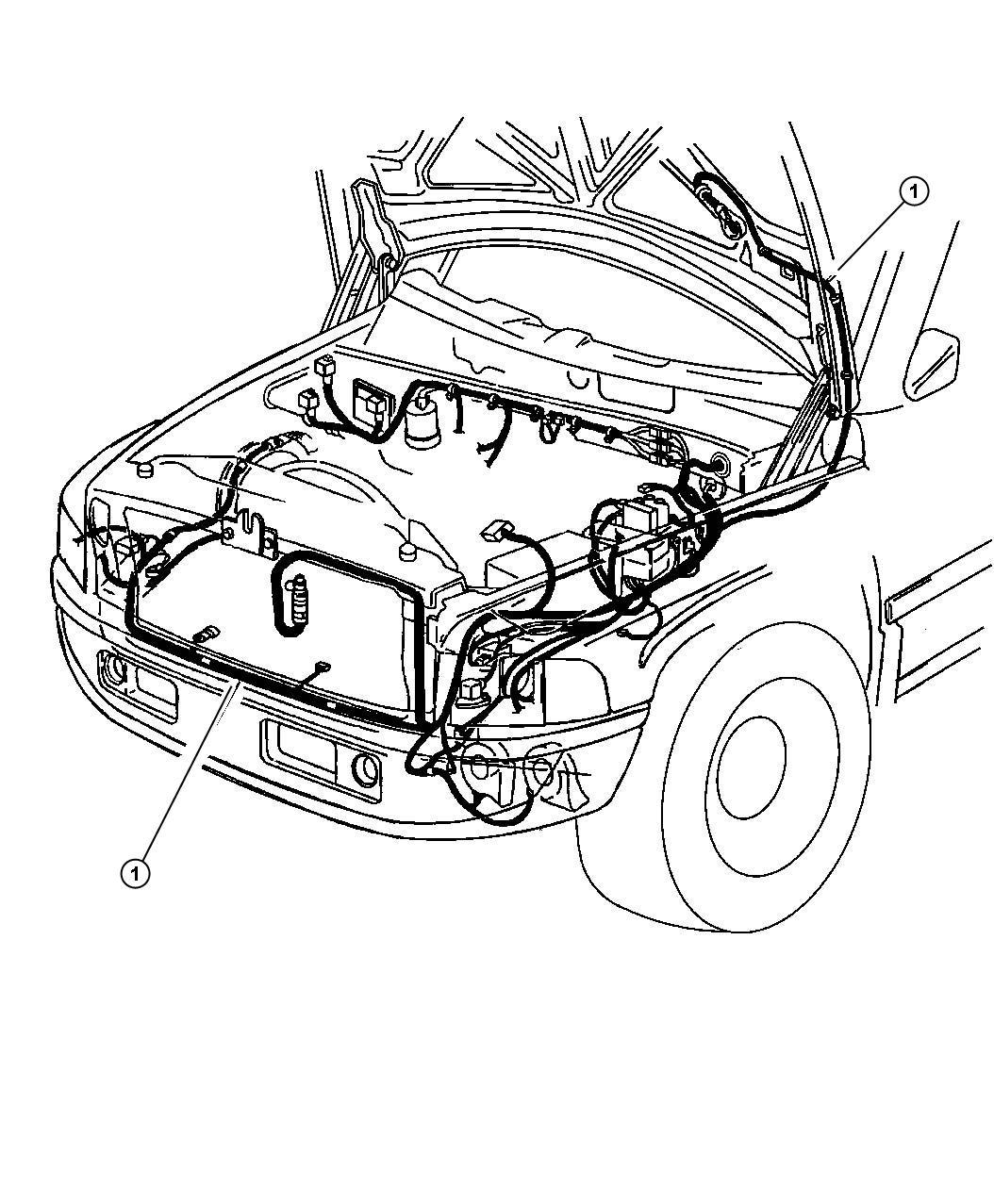 1997 Dodge Ram 2500 Wiring. Headlamp to dash. W/o abs & w